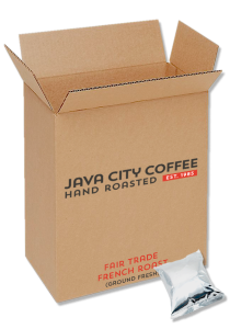 Case of Ground Coffee Fair Trade French Roast 3.25 oz packs