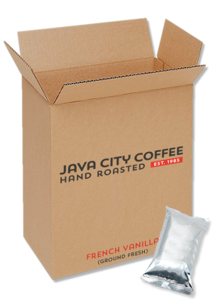 Case of Ground Coffee French Vanilla 8oz packs