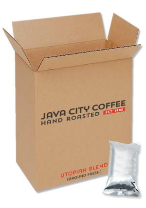 Case of Ground Coffee Utopian Blend 8oz packs